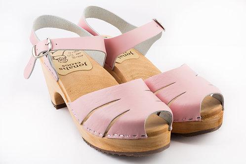 Pink laser high heels sandals