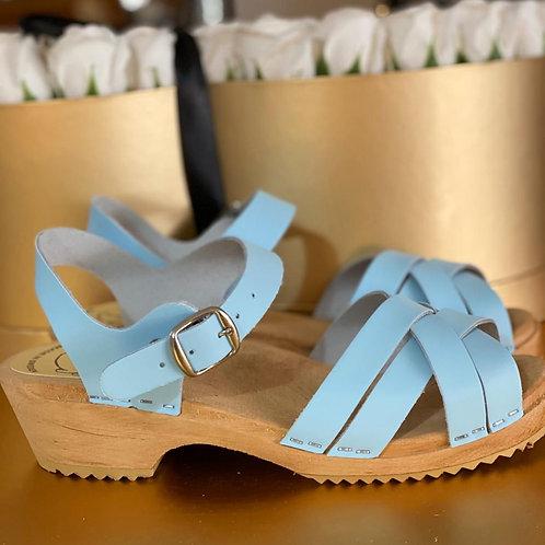 Light blue matte sandal