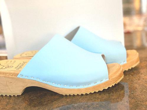 Low heel sandal blue sandals