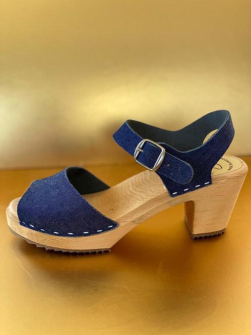 high jeans sandals