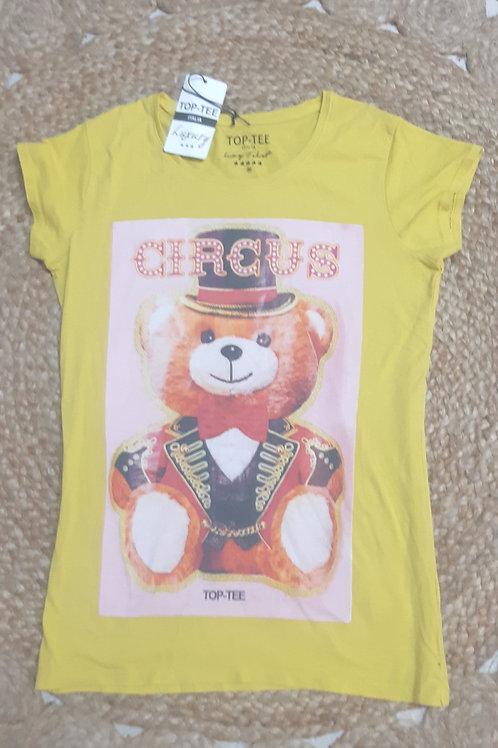 טישרט צהובה , דובי.