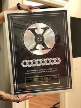 "Custom 12"" Platinum DLX Record Award"