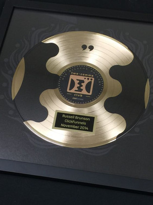 "12"" Gold DLX Record Award, Custom"