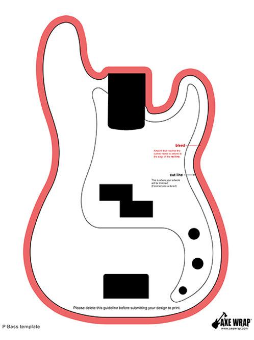 P Bass Body Template
