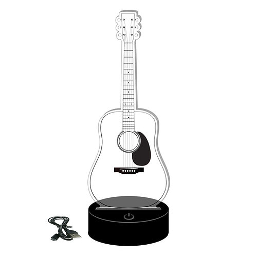 Dreadnought Acoustic Style Axe Lamp