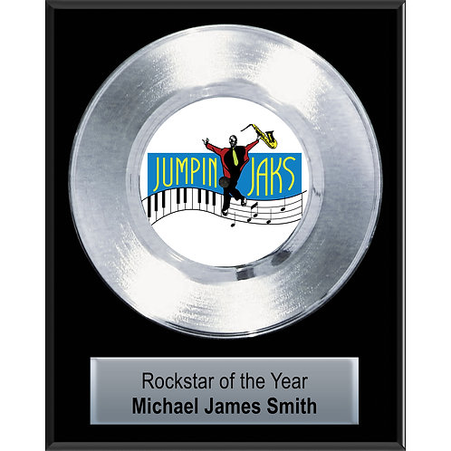 """7"""" Classic Platinum Record Plaque"""