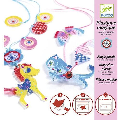 Plastic magic Kitten and the pony jewells