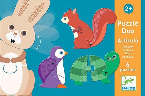 Puzzle Duo Animales x6