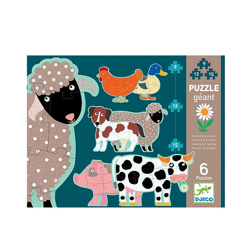 Puzzle Honoré y sus amigos x6