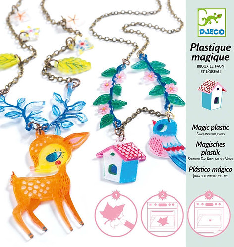 Plastic magic Fawn and bird jewells