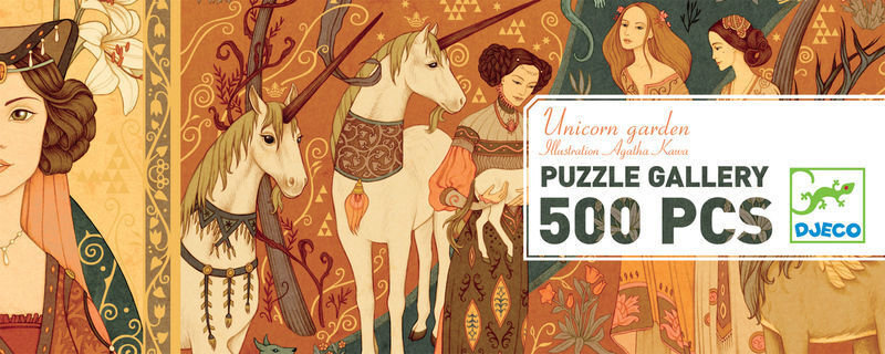 Puzzle Unicorn Garden 500p