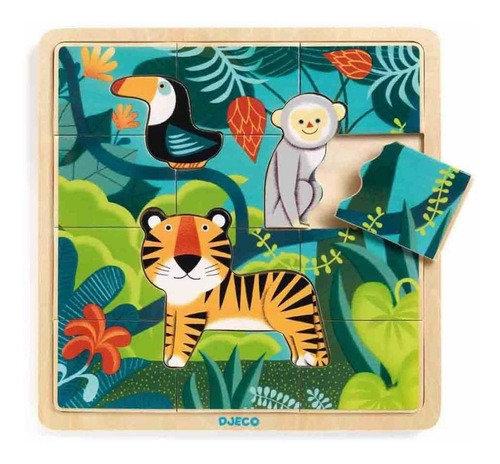 Puzzle Madera Jungle 15p