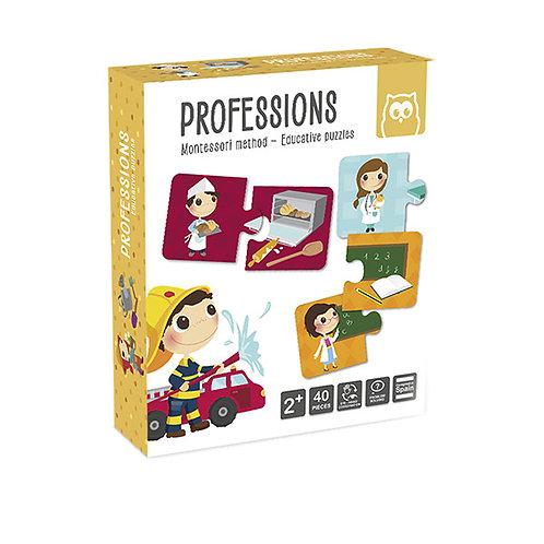 Puzzle Dúo Profesiones Montessori EUREKA