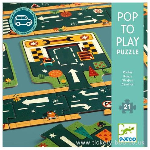 Puzzle Caminos 21p