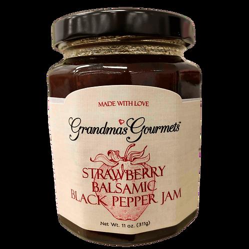 Strawberry + Balsamic + Black Pepper Jam