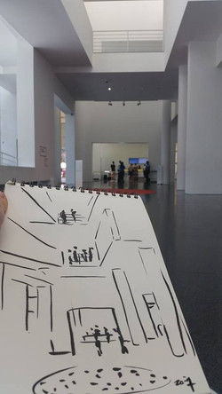 Zoia in MACBA in Barcelona. May 2015