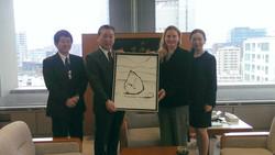 With Prefect of Fukushima