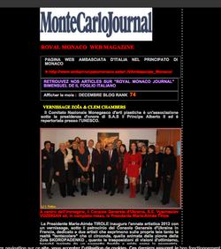 Royal Monaco about Zoia's exhibition