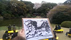 Sakura sketching