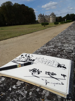 Sketching in Loire Valley