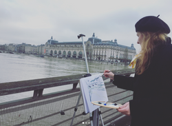 Zoia painting Paris Flood