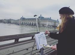Zoia painting Paris Flood