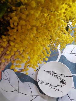 Jean Cocteau on Riviera in porcelain