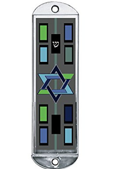 Modern Star of David Car Mezuzah