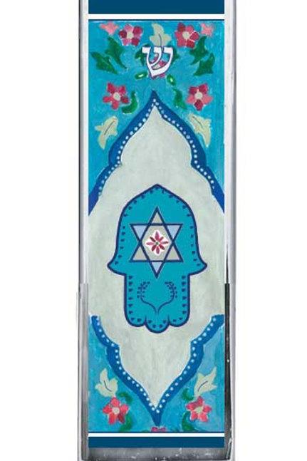 CM 69-Blue Hamsa Car Mezzuzah