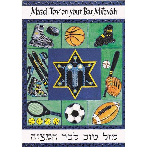 HJ 274-Bar Mitzvah Greeting Card