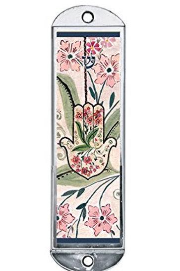 CM 54-Floral Hamsa Car Mezuzah