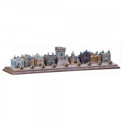 Synagogues Of The World Menorah: Travel The Globe This Hanukkah- Hand Painted