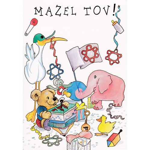 HJ 224-Mazel Tov Greeting Card