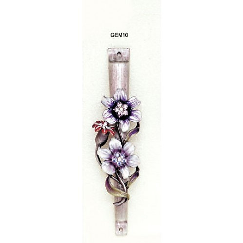 GEM MZ 10-Purple & Violet Gemstone Mezzuzah