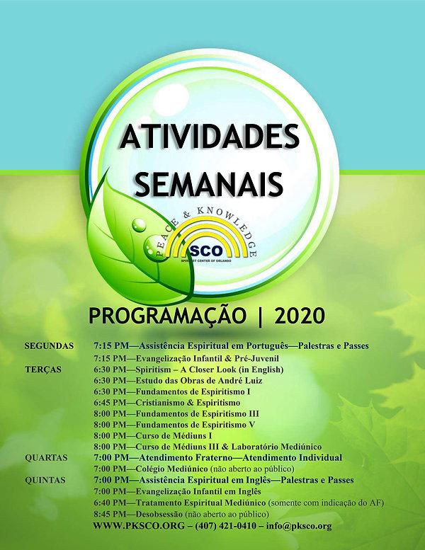 2020-ATIVIDADES SEMANAIS 2020 (green lea