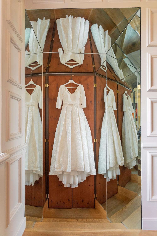 Brautkleid mit Spiegelung