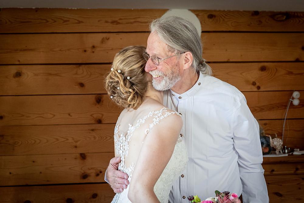 Braut und Brautvater Hochzeitsfotos