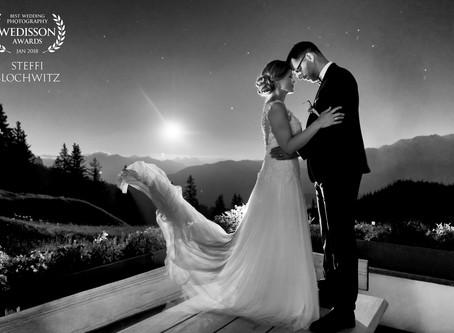Laax Startgels: Traumhochzeit von Stephanie & Jörg in Sonnen- und Mondschein