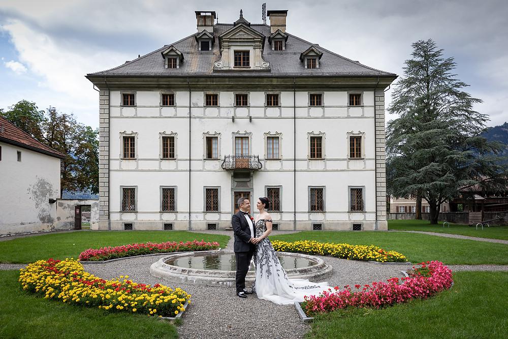 Palazzo Sils im Domleschg Brautpaarfotos