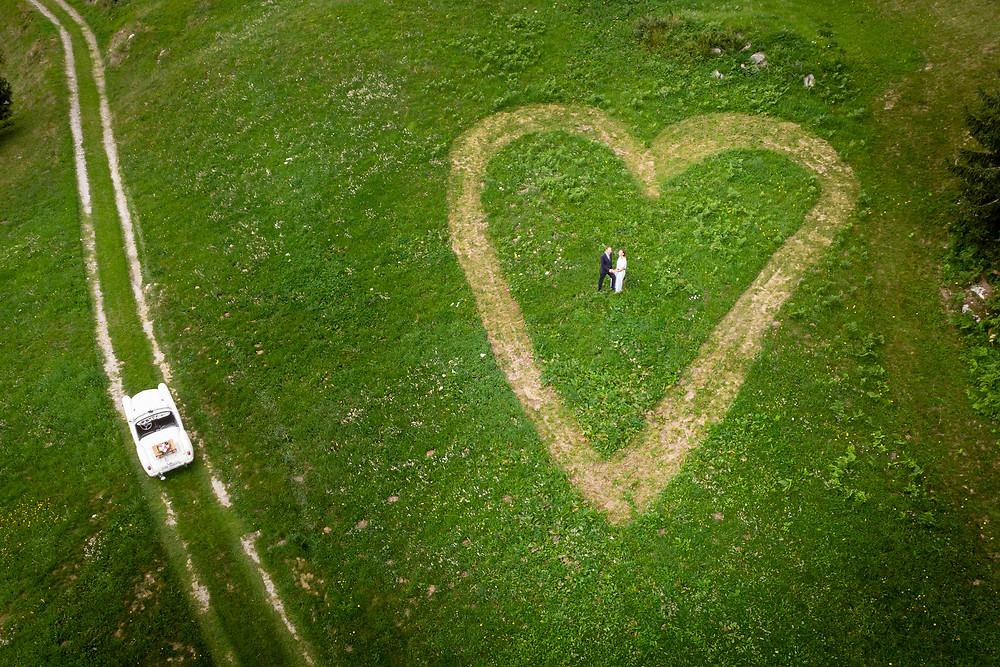 Drohnenfotografie Hochzeitsfotos