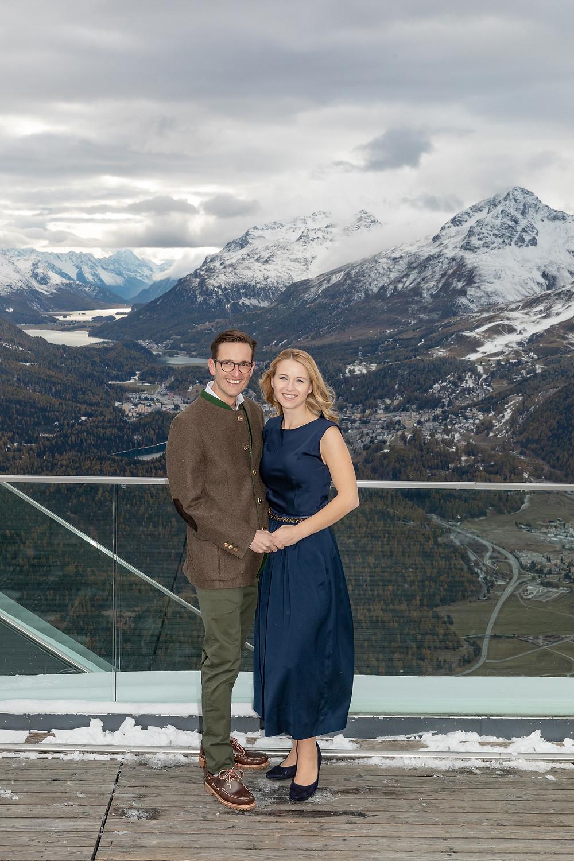 Brautpaarshooting, Berghotel Muottas Muragl
