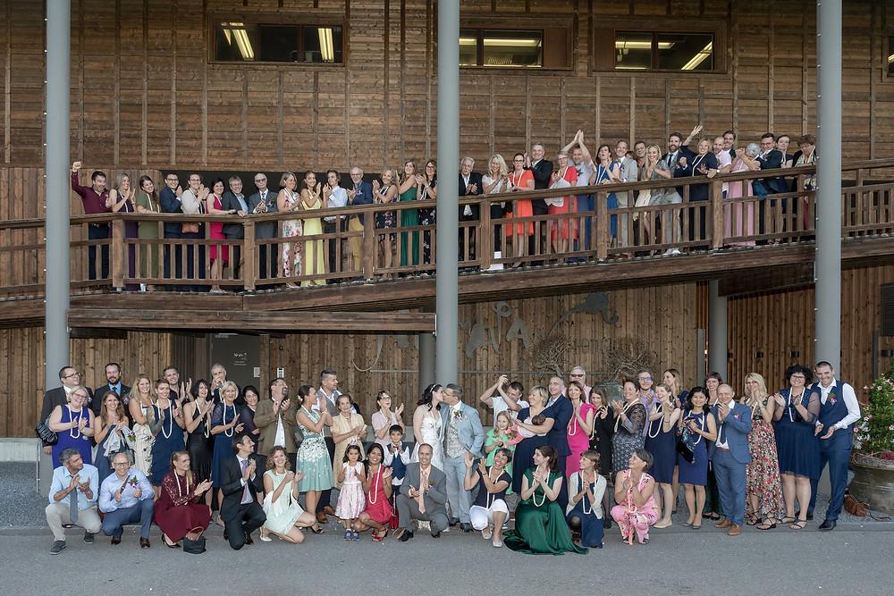 Gruppenfoto Hochzeit