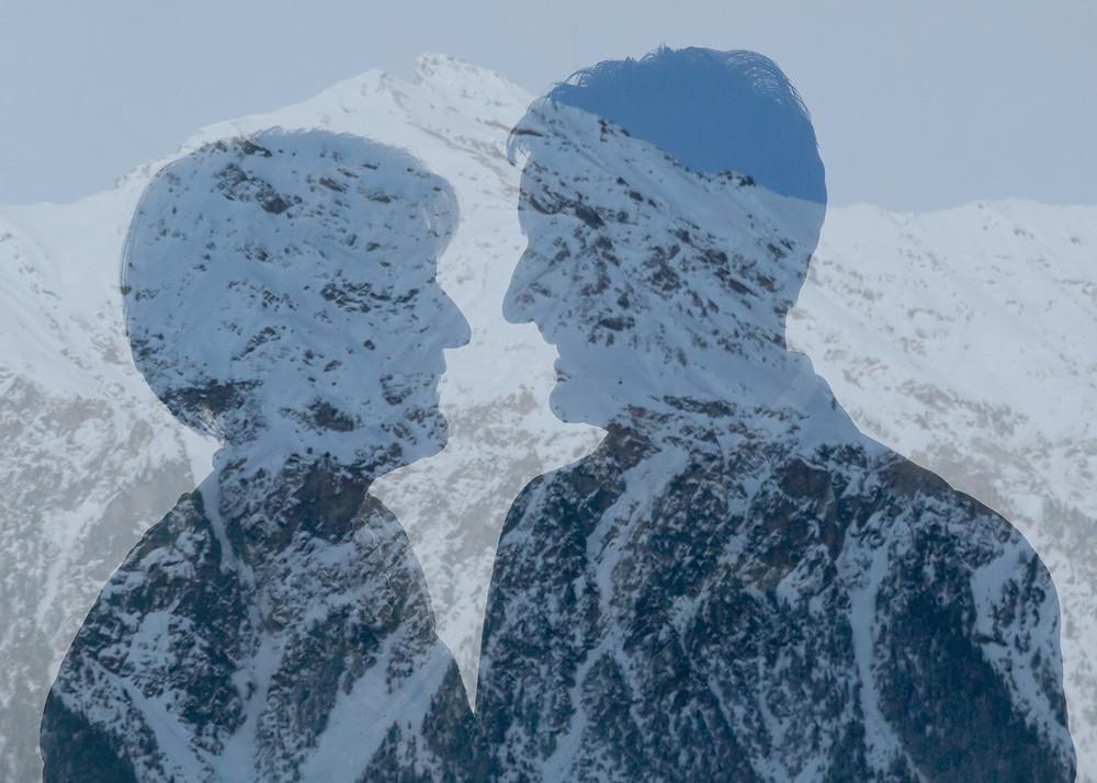 Winterhochzeit in Lenzerheide, Doppelbelichtung
