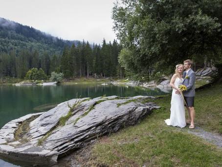 Caumasee Flims: Hochzeit von Lilly & Michi