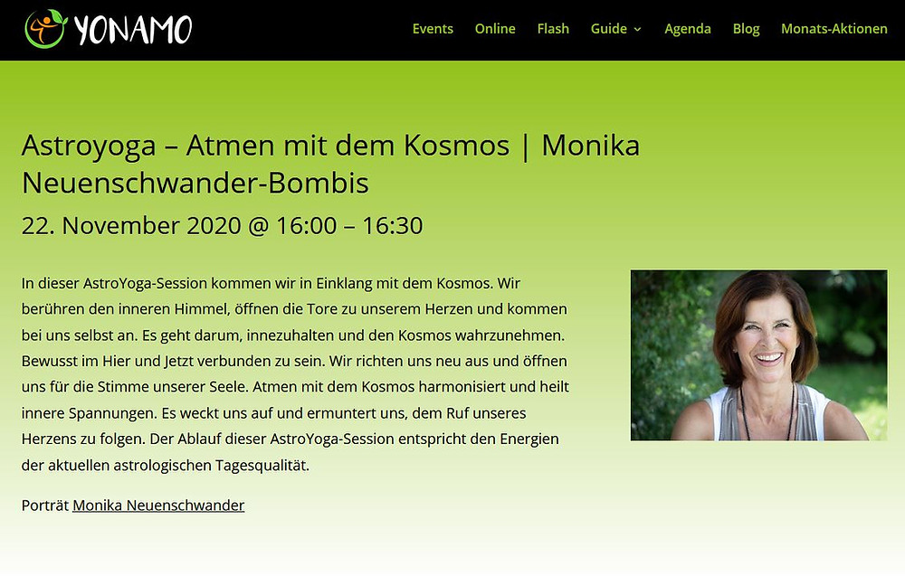Astroyoga Monika Neuenschwander Medical Yoga Spirit