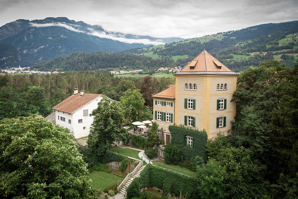 Schloss Schauenstein Drohnenaufnahme