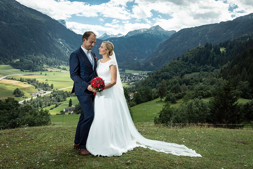 Brautpaarbilder Graubünden Natur