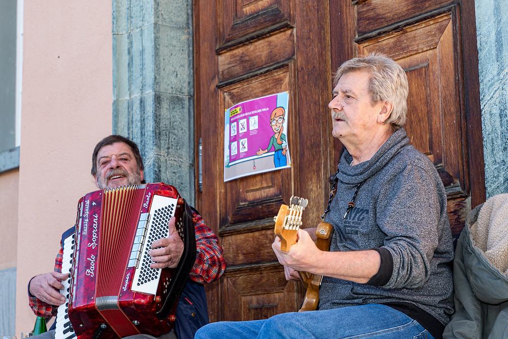 Musiker Duo Pflümli Engadin