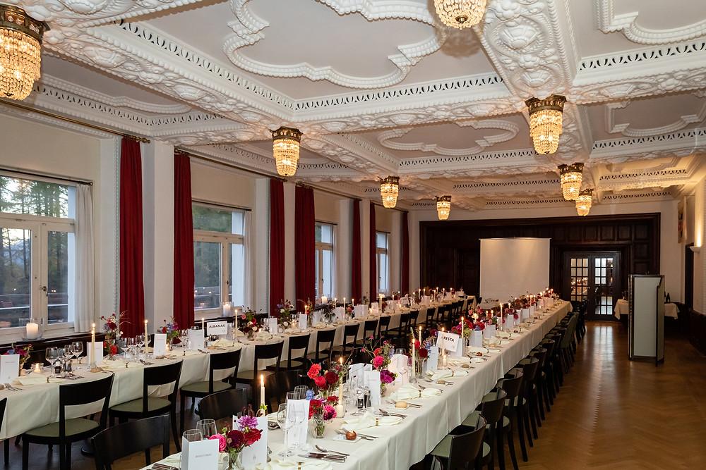 Hotel Castell Speisesaal Hochzeit