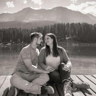 Paarfotos in der Bergwelt